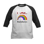 I Love Rainbows Kids Baseball Jersey