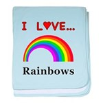 I Love Rainbows baby blanket