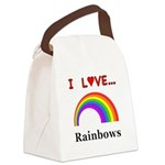 I Love Rainbows Canvas Lunch Bag