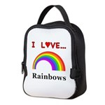 I Love Rainbows Neoprene Lunch Bag