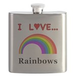 I Love Rainbows Flask