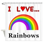 I Love Rainbows Shower Curtain