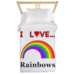I Love Rainbows Twin Duvet