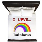 I Love Rainbows King Duvet