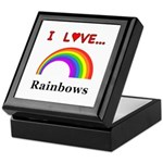 I Love Rainbows Keepsake Box