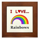 I Love Rainbows Framed Tile