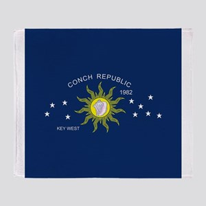 The Conch Republic Flag Throw Blanket