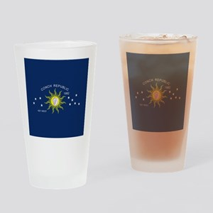 The Conch Republic Flag Drinking Glass