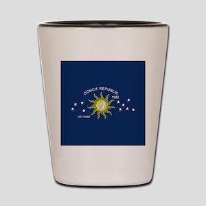 The Conch Republic Flag Shot Glass