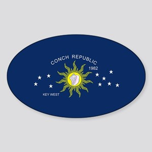 The Conch Republic Flag Sticker