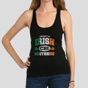 Irish Flag Chicago South Side Racerback Tank Top