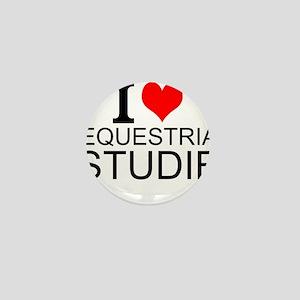 I Love Equestrian Studies Mini Button