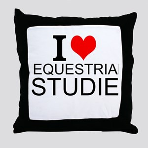I Love Equestrian Studies Throw Pillow