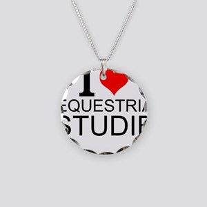I Love Equestrian Studies Necklace