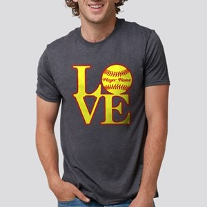 Personalized Love Softball T-Shirt