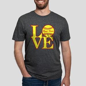 Personalized Love Softball T-Shirt