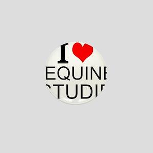 I Love Equine Studies Mini Button