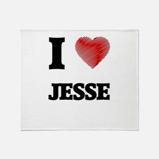 I love Jesse Throw Blanket