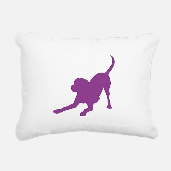 Lab 1C Purple Rectangular Canvas Pillow