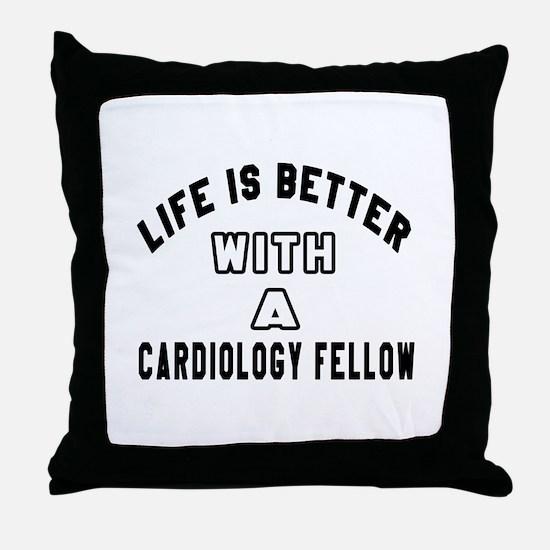 Cardiology Fellow Designs Throw Pillow