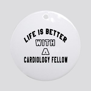 Cardiology Fellow Designs Round Ornament