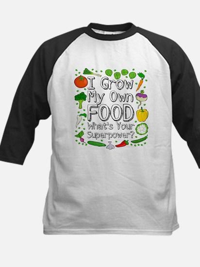 I Grow My Own Food Baseball Jersey