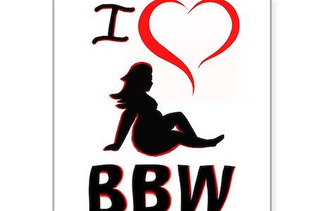 I Heart Bbw Sticker