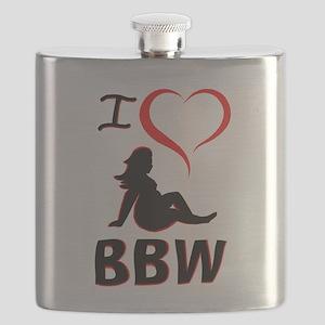 I Heart BBW Flask