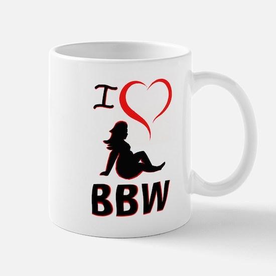 I Heart BBW Mugs