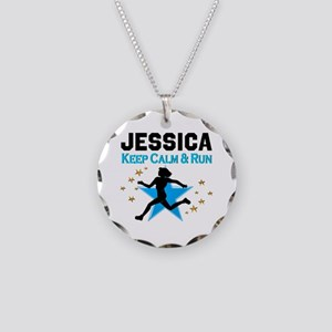 TRACK AND FIELD Necklace Circle Charm