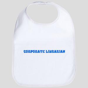 Corporate Librarian Blue Bold Design Baby Bib
