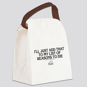 Frasier: Reason To Die Canvas Lunch Bag