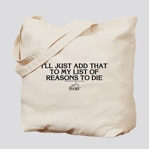 Frasier: Reason To Die Tote Bag