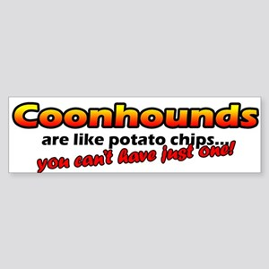 Potato Chips Coonhound Bumper Sticker