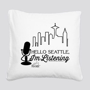 Frasier: Hello Seattle Square Canvas Pillow