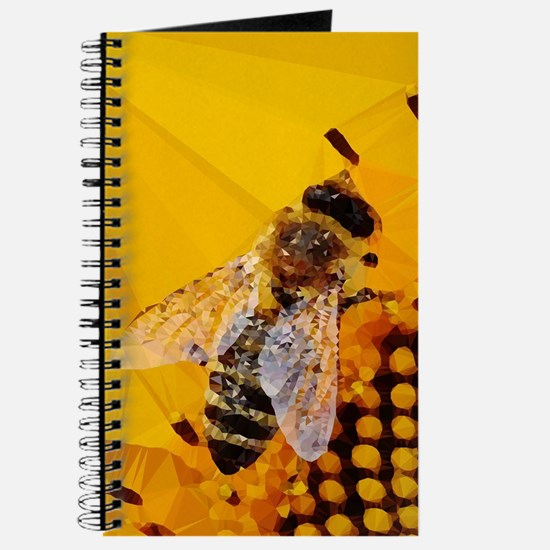 Honey Bee Sunflower Low Poly Journal