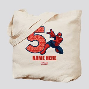 Spider-Man Personalized Birthday 5 Tote Bag