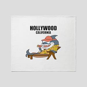 Hollywood, California Throw Blanket