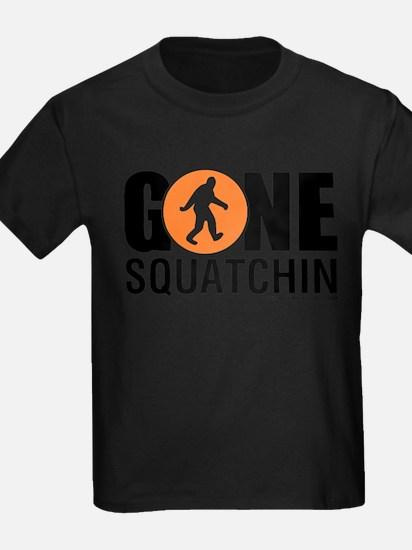 Gone Squatchin Mens Orng/Black Logo T-Shirt