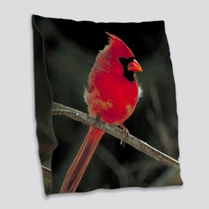 CARDINAL Burlap Throw Pillow