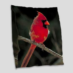 CARDINAL Burlap Throw Pillow