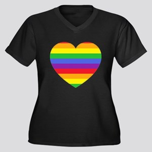 Rainbow Valentine Plus Size T-Shirt