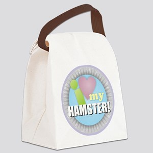 I Love My Hamster Canvas Lunch Bag