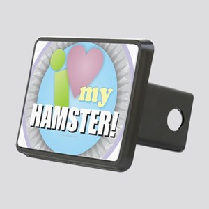 I Love My Hamster Rectangular Hitch Cover