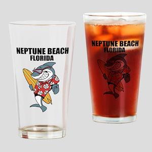 Neptune Beach, Florida Drinking Glass