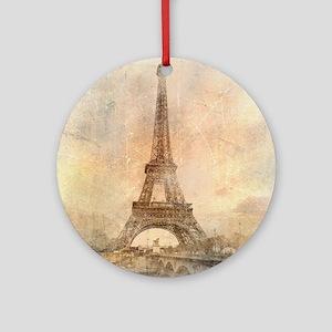 Vintage Paris Round Ornament