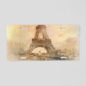 Vintage Paris Aluminum License Plate