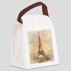 Vintage Paris Canvas Lunch Bag