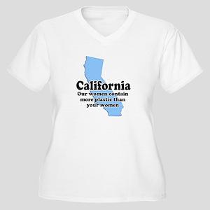 California Plastic Surgery Women's Plus Size V-Nec