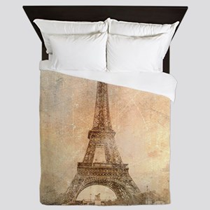 Vintage Paris Queen Duvet